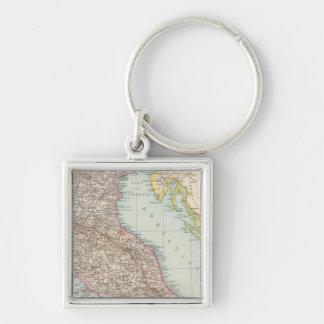 Italien nordliche Halfte, Map of North Italy Keychain