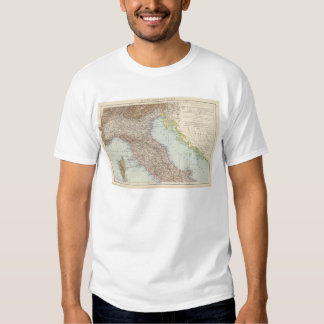 Italien nordliche Halfte, Map of North Italy T-Shirt