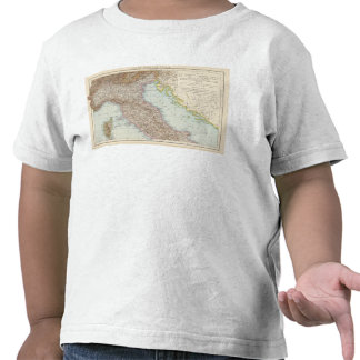Italien nordliche Halfte, Map of North Italy Tee Shirt