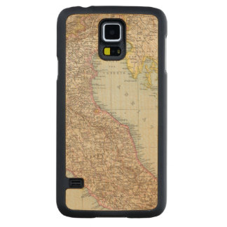 Italien nordliche Halfte, Map of North Italy Carved® Maple Galaxy S5 Slim Case