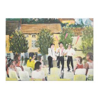 Italien Performers Laignes France . 2006 Canvas Print