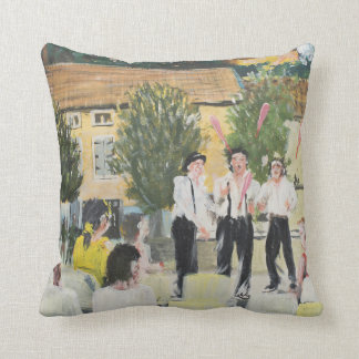 Italien Performers Laignes France . 2006 Throw Pillow
