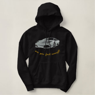 italien race car embroidered hoodie