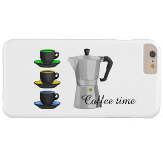 Italion Espresso Maker Coffe Lovers Design Barely There iPhone 6 Plus Case