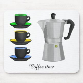 Italion Espresso Maker Coffe Lovers Design Mouse Pad