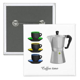Italion Espresso Maker Coffe Lovers Design Pinback Button