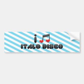 Italo Disco Bumper Sticker