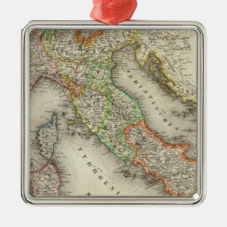 Italy 12 square metal christmas ornament