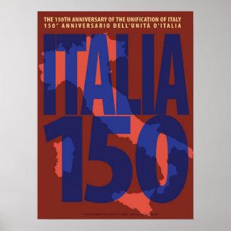 Italy 150th Anniversary Art Poster