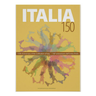 Italy 150th Anniversary of Unification Art Poster