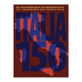 Italy 150th Anniversary of Unification Poster