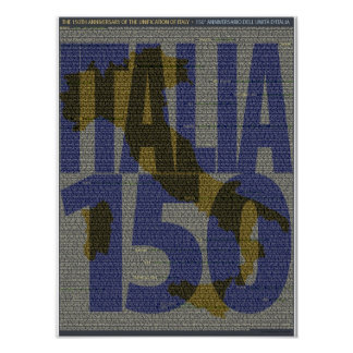 Italy 150th Anniversary Poster