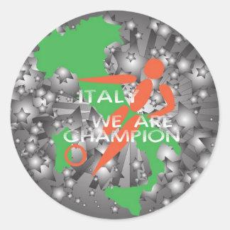 Italy 2010 classic round sticker