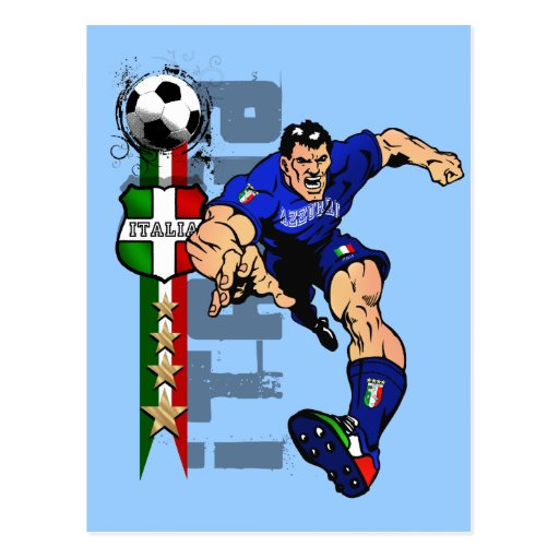 Italy 2014 World Cup Brazil Gift Ideas Italia Fans Postcard