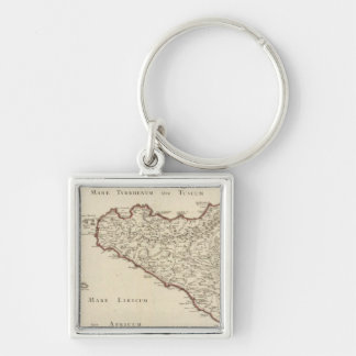 Italy 2 Silver-Colored square keychain