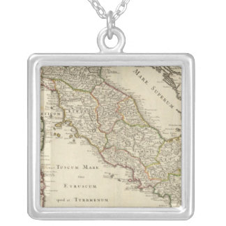 Italy 5 square pendant necklace