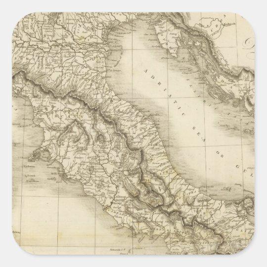 Italy 8 square sticker