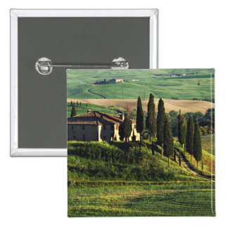 Italy. A pastoral Tuscany villa in Val d'Orcia. Pinback Buttons