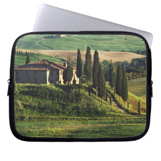 Italy. A pastoral Tuscany villa in Val d'Orcia. Computer Sleeve