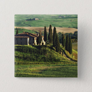 Italy. A pastoral Tuscany villa in Val d'Orcia. Pinback Button
