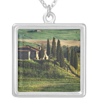 Italy. A pastoral Tuscany villa in Val d'Orcia. Silver Plated Necklace