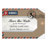 Italy Airmail Luggage Tag Save the Date Custom Announcement