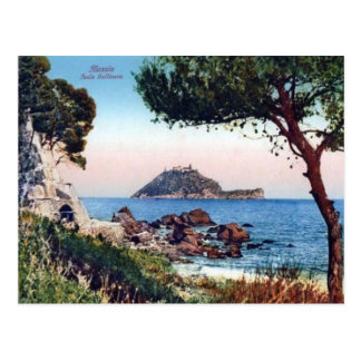Italy,  Alassio, Beach and offshore island Post Cards
