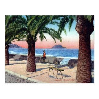 Italy, Alassio  Esplanade Postcard