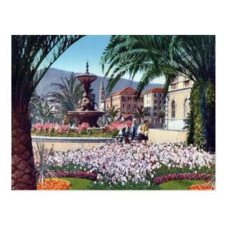 Italy,  Alassio, Flowers round the fountain Postcards