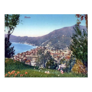Italy,  Alassio, Town and Bay Postcards