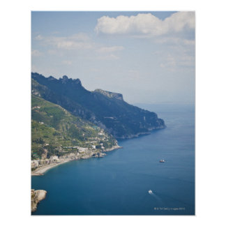 Italy, Amalfi Coast, High angle view on town at Poster