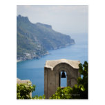 Italy, Amalfi Coast, Ravello, Bell tower with Postcards