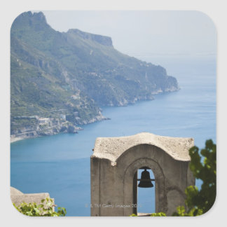 Italy, Amalfi Coast, Ravello, Bell tower with Square Sticker