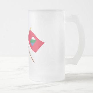 Italy and Abruzzo crossed flags Mug