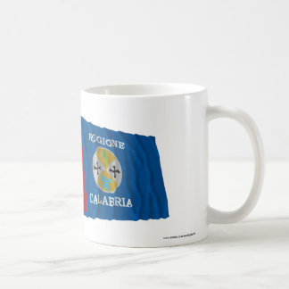Italy and Calabria waving flags Coffee Mugs