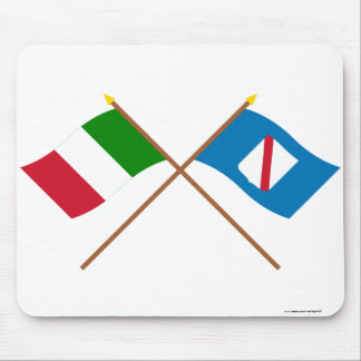 Italy and Campania crossed flags Mouse Pad