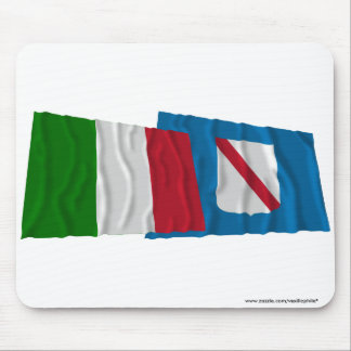 Italy and Campania waving flags Mouse Pad
