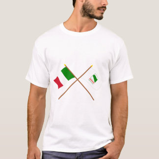 Italy and Emilia-Romagna crossed flags T-Shirt