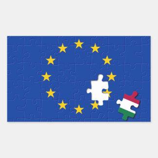 Italy and European Union Rectangular Stickers