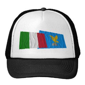 Italy and Friuli-Venezia Giulia waving flags Trucker Hat