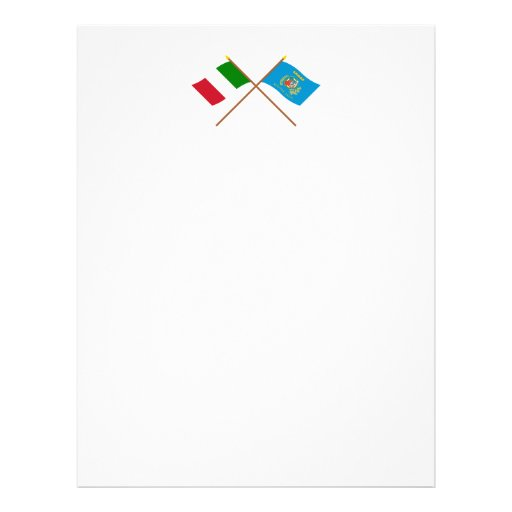 Italy and Lazio crossed flags Personalized Letterhead