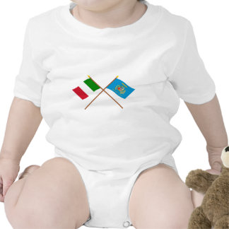 Italy and Lazio crossed flags Shirt