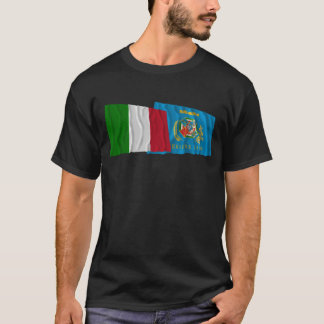 Italy and Lazio waving flags T-Shirt