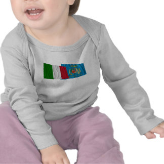 Italy and Lazio waving flags T Shirts