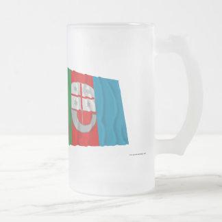 Italy and Liguria waving flags Coffee Mug