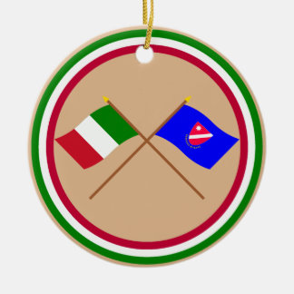 Italy and Molise crossed flags Christmas Tree Ornaments