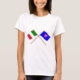 Italy and Molise crossed flags T-Shirt