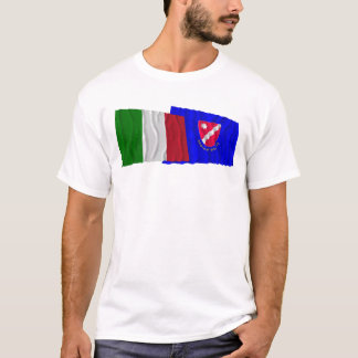 Italy and Molise waving flags T-Shirt