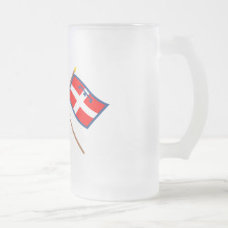 Italy and Piemonte crossed flags Coffee Mugs