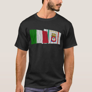 Italy and Puglia waving flags T-Shirt